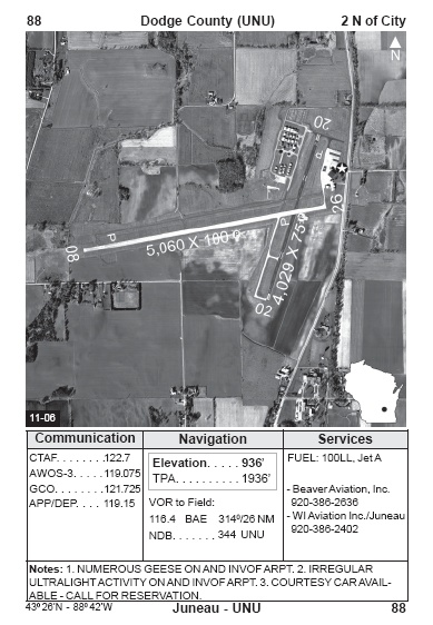 UNU airport diagram